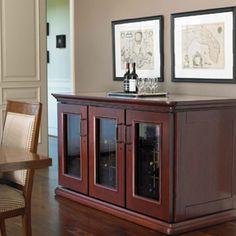 Elegant wine credenza