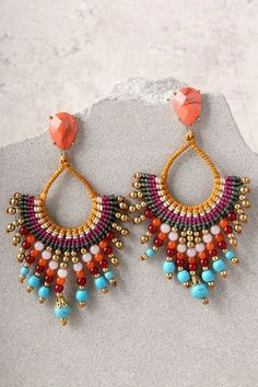First Sunrise Multi Color Beaded Earrings 1