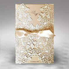 Svatební oznámení a pozvánky ke svatebnímu stolu Gold Collection III - KyoPrint.cz