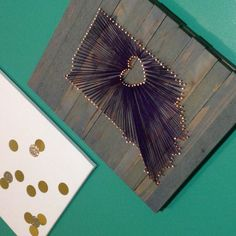 Stained Indiana String Art Indianapolis IN by GrizzlyandCo, $40.00