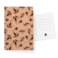 Cartão Folhas de outono rose gold de @jurumple | Colab55