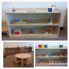 Toddler classroom at Spectrum Montessori School Irvine CA … Montessori Education, Montessori Classroom, Montessori Toddler, Montessori Materials, Toddler Activities, Infant Toddler Classroom, Toddler School, Classroom Layout, Classroom Design