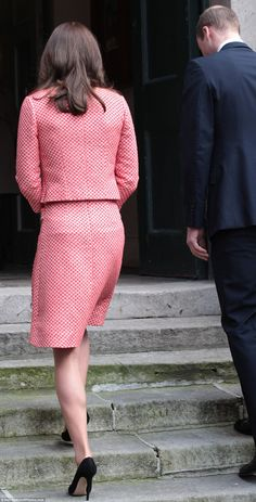 Kate's retro style outfit had a hint of Jackie Jennedy about it and comes from Eponine's SS16 collection, costing £600 apiece
