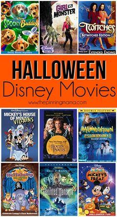halloween movies Great list of Halloween Disney Movies Kid Friendly Halloween Movies, Halloween Disney Movies, Halloween Movie Night, Halloween 2020, Holidays Halloween, Halloween Party, Disney Halloween Decorations, Halloween Costumes, Disneyland Halloween
