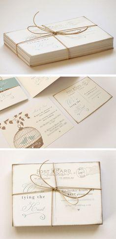 Studio Seed - blog - - matt & sarah's birdcage wedding invitations