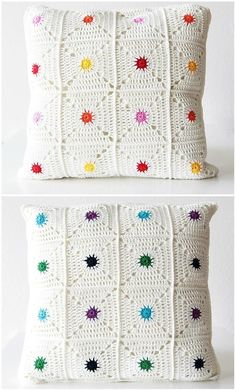 The hotspot pillow is an easily customizable pillow case that brings a little pop of colour into your room! You can create any colour combination you want. This particular colour combination has two sides: One sunny and bright side, and one side for when you're looking for more calmer colours. The pattern is suitable for beginners and is accompanied by a photo tutorial. The pattern is written in US terms.