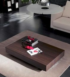 Table basse transformable et relevable Cosy