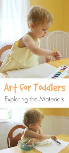 Art for Toddlers :: How They Explore Art Materials and Their World