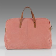 large pink leather holdall // paul smith