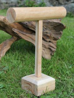 Christmas Gift Ideas: Solid Natural Wooden T Bar - Bracelet Holder