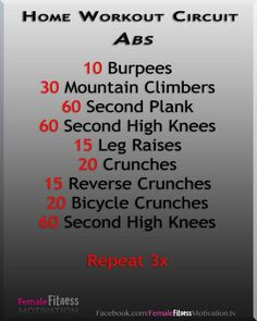 Abs workout at home