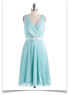 Summer dress in robin's egg blue.
