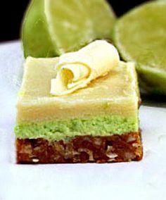 Easy White Chocolate Key Lime Nanaimo Bars with a Coconut Macadamia Graham Cracker Crust