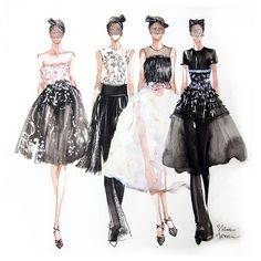 Fashion Illustration Print by sweetbeeworld on Etsy