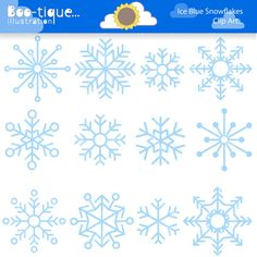 Ice Blue Snowflakes Digital Clipart. Snowflake Clip Art Winter Clip Art for Instant Download. Ice Clipart. Christmas Clip Art. Xmas Clipart....