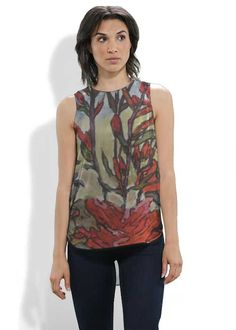 Sleeveless Top - FLOWER WITH BRUSHES by VIDA VIDA Shopping Online Outlet Sale OuRj17
