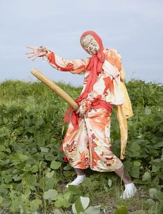 In just after finishing his European tour of winter masquerades (Wilder Mann), Charles Fréger began a photography project exploring Japan's mask. Charles Freger, Magazine Japan, Cultural Appropriation, Tribal People, Photography Projects, Fantasy Creatures, Goblin, Lovers Art, Masquerade