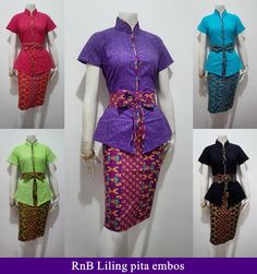 Dress Batik Muslimah Kombinasi Brokat Lace  Model Baju Batik