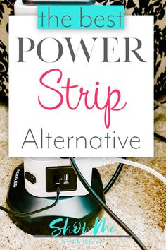 Tired of dealing with overloaded power strips and messy cords? Check out this awesome power strip alternative! It cuts down the mess, has USB ports, and even helps with cord organization! via Suburban Refrigerator Organization, Cord Organization, Kitchen Organization, Organizing, Time Management Activities, Time Management Strategies, Organized Bedroom, Organized Kitchen, Time Management Techniques