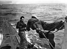 U-Boats ~ U-Boat Crew repairing lines after storm on the open seas ~ BFD