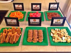 Custom Minecraft Birthday Party FOOD by MintPrintWoodstock on Etsy, $9.50