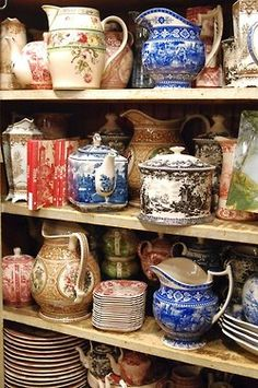 ∷ Variations on a Theme ∷ Collection of vintage transferware