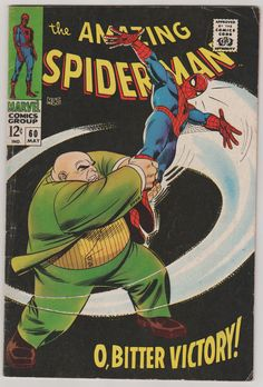 Amazing SpiderMan V1 60.  FN.  May 1968.  by RubbersuitStudios, $60.00 #spiderman #stanlee #comicbooks