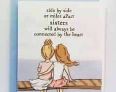 Miss You Card - Sisters Card - Bon Voyage Card - Miss You Card - Card for Sisters #Sister