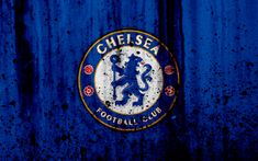 Download wallpapers FC Chelsea, 4k, Premier League, logo, England, soccer, football club, grunge, Chelsea, art, stone texture, Chelsea FC