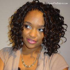 Crochet braid hair style