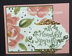 Stampin' Up!'s Heartfelt Sympathy stamp set truly has the sentiments your heart is thinking.  Here it is paired with English Garden DSP.  http://www.stampinbj.com/2015/06/english-garden-card-box-heartfelt-sympathy-preview.html