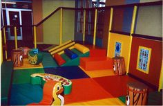 Soft Toddler Play Area at a children's ministry. Great for smaller children. #children #ministry #youth #design #Iplayco #indoor #playground #ministries