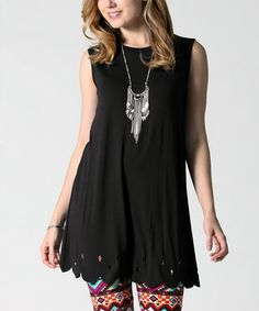 This Black Scallop Swing Top is perfect! #zulilyfinds