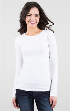 DownEast provides the highest quality and most affordable women's clothing available. College Girl Fashion, College Girls, Long Sleeve Tees, Blouse, Pretty, Shirts, Clothes, Beauty, Temple