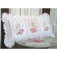 Shabby Chic  Pillow                                                       … Shabby Chic Pillows, Shabby Chic Pink, Shabby Chic Bedrooms, Shabby Chic Style, Shabby Chic Furniture, Shabby Chic Decor, Furniture Sets, Country Chic Cottage, Romantic Cottage