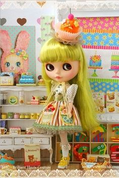 BHC Cupcake Love dress set for Kenne Blythe doll - doll outfit - FN578