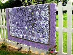 Kaleidoscope one block wonder quilt. Lilacs