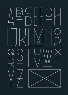 #type #font #design. contemporary alphabet