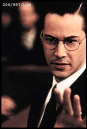{Silver Screen} Keanu Reeves as Kevin Lomax The Devil's Advocate Keanu Reeves Movies, Keanu Reaves, Chuck Palahniuk, The Devil's Advocate, Keanu Charles Reeves, Ideal Man, Love Movie, Just The Way, Great Movies