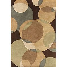 @Overstock - Colorful circles of varying sizes adorn this hand-tufted wool rug. This area rug features shades of brown, light brown, sand and light green.http://www.overstock.com/Home-Garden/Hand-tufted-Metro-Circles-Brown-Wool-Rug-5-x-8/4819615/product.html?CID=214117 $163.59