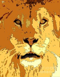 The analogous color scheme and dark accents applied in this digital creation make it an amazing piece! Big cats are very popular, highly searched wild animals on the internet.