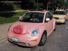 pink piggie car