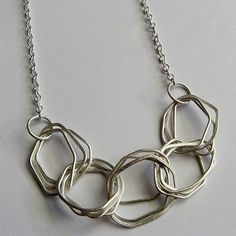 Emma Boxall-Gray || Chained necklace Metal Jewelry, Jewelry Art, Jewelry Gifts, Jewelery, Silver Jewelry, Vintage Jewelry, Jewelry Accessories, Jewelry Necklaces, Jewelry Design