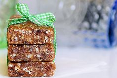 Great site on how to make your own larabars, and other healthy desserts! These are oatmeal-raisin cookie larabars.
