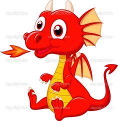 Скачать - Милый ребенок Дракон мультфильм — стоковая иллюстрация #35078867