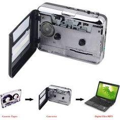 Portable USB Cassette Player Capture Cassette Recorder Converter