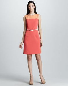 Emory Belted Colorblock Dress by Elie Tahari at Bergdorf Goodman.