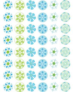Bottle Cap Images | Bottle Cap Co | Snowflakes