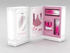 Loreal Press Kit Design by Aysegul Aynali, via Behance