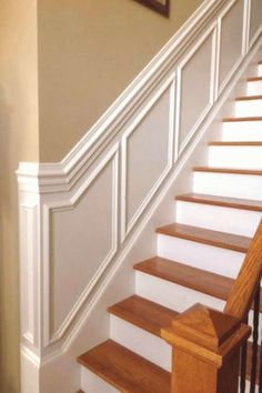50 S Stairs Makeover ideas Makeover Stairs Stairways Wainscoting House Design, Foyer Decorating, Stairs Design, Staircase Makeover, House Stairs, Stairway Wainscoting, Hallway Decorating, Moldings And Trim, Wainscoting
